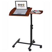 Comfort Products Adjustable Mobile Laptop Computer Cart/Stand, Dual Surface