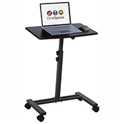 Comfort Products Adjustable Mobile Laptop Computer Cart/Stand, Single Surface