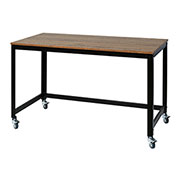 OneSpace Mobile Loft Writing Desk - Steel with Wood Surface