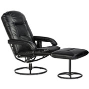 Relaxzen Leisure Recliner Chair with 10-Motor Massage and Heat - Brown