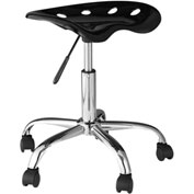 OneSpace Computer Task Stool with Tractor Seat - Black