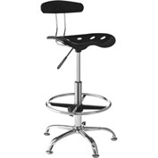 OneSpace Drafting Stool with Tractor Seat - Black