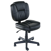 OneSpace Basics Mid Back Plush Task Chair - PU Leather - Black