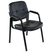 OneSpace Basics Guest Reception Chair - PVC Leather - Black