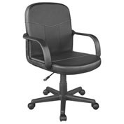 Comfort Products Bonded Leather Mid-Back Chair Black