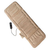 Comfort Products 10-Motor Massage Plush Mat With Heat Beige