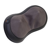Relaxzen 3D Shiatsu Neck Pillow Massager with Heat - Black