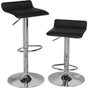 OneSpace Adjustable Height Bar Stool Black Set of 2