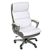 OneSpace High Back Two-Tone Executive Chair with Padded Armrests - White - Roosevelt Series