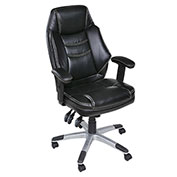 OneSpace Plush Executive Chair with Adjustable Padded Armrests - Black - Jefferson Series