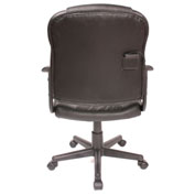 Comfort Products Massage Mid-Back Leather Task Chair Black