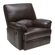 Relaxzen Rocker Leather Recliner - Brown Marbled