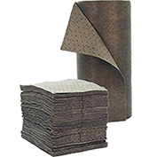 """Chemtex 30"""" x 150' Double Wt., Bonded Meltblown Universal Absorbent Roll, Gray"""