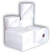 "Chemtex 30"" x 150' Medium Weight, Bonded Meltblown Oil Absorbent Roll, White"