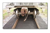 "Chemtex 19"" x 100' Rail Road Track Matting, Outside Piece"