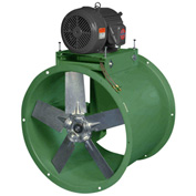 "Canarm 34"" Three Phase Belt Drive Tube Axial Duct Fan WTA34T30150M 1-1/2HP, 15100 CFM"