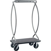 "CSL HD Euro Bellman Cart 2899BK-010-BLK Stainless, Black Carpet, Black Bumper, 8"" Pneumatic"