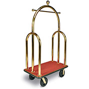 "CSL HD Trident Bellman Cart 3533BK-080-RED Titanium, Red Carpet, Black Bumper, 8"" Semi-Pneumatic"