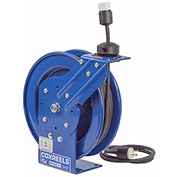 Coxreels PC13-3512-A Power Cord Spring Rewind Reel: Single Industrial Receptacle, 35' Cord, 12 AWG
