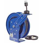 Coxreels PC13-3516-A Power Cord Spring Rewind Reel: Single Industrial Receptacle, 35' Cord, 16 AWG