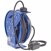 Coxreels PC13-3516-F Power Cord Spring Rewind Reel: Duplex Industrial Receptacle, 35' Cord, 16 AWG