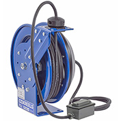 Coxreels PC13-5012-F Power Cord Spring Rewind Reel: Duplex Industrial Receptacle, 50' Cord, 12 AWG