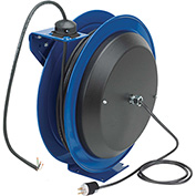 Coxreels PC19-7516-X Power Cord Spring Rewind Reel: 75' Cord, 16 AWG, Less Accessory