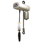 CM Lodestar Food Grade Electric Chain Hoist w/Chain Container, 1 Ton, 20 Ft. Lift, 230/460V