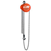 CM Cyclone Hand Chain Hoist, 1/2 Ton, 15 Ft. Lift