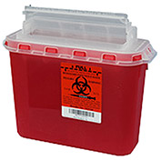 Plasti-Products 143154 5.4 Qt. Sharps Container, For Use with BD™ Wall Cabinet, Red, Case of 20