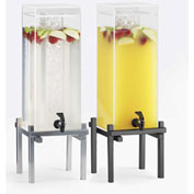 "Cal-Mil 1132-1-13 One by One Iced Beverage Dispenser 1-1/2 Gallon 10-1/4""W x 10-1/4""D x 17-3/4""H Blk"