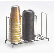 """Cal-Mil 1229 3 Section Cup and Lid Organizer 13""""W x 4-1/2""""D x 8-1/2""""H"""