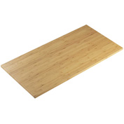 "Cal-Mil 1435-1248-60 Bamboo Rectangle Tray 12""W x 48""D x 1/2""H - Pkg Qty 3"