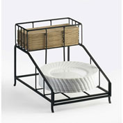 """Cal-Mil 1455 Iron Napkin and Plate Display 9-1/2""""W x 14""""D x 10""""H"""