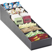 """Cal-Mil 2059 Stackable Cup Dispenser and Condiment Display 6-1/2""""W x 22-3/4 x 6-1/4""""H Slanted Black"""