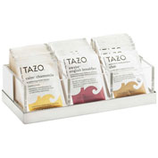 """Cal-Mil 3014-55 Luxe Three Compartment Condiment Organizer White & SS 9-1/4""""W x 4-1/2""""D x 2-1/2""""H"""