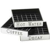 "Cal-Mil 632-2 Decaf Engraved Drip Tray 4""W x 4""D Package Count 12 by Drip Trays"