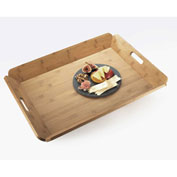 "Cal-Mil 958-1-60 Bamboo Room Service Tray 22-1/2""W x 17""D - Pkg Qty 6"