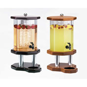"Cal-Mil 972-3-52 Wood Octagon Beverage Dispensers 3 Gallon 11""W x 11""D x 24-1/2""H Dark Wood"