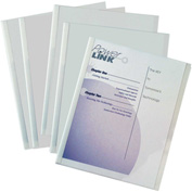 C-Line Products Poly Report Covers with Binding Bars, Economy, Clear, White Bars, 11 x 8 1/2, 50/BX