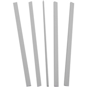 C-Line Products Binding Bars Only, White, 11 x 1/8, 100/BX