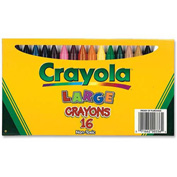 Crayola® Large Crayons, Nontoxic, Assorted, 16/Box