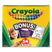 Crayola® Classic Crayon Set, Nontoxic, Assorted, 64/Box