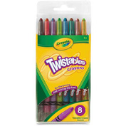 Crayola® Twistable Crayons, Nontoxic, Assorted, 8/Pack
