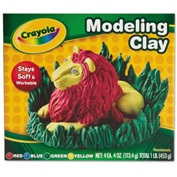 Crayola® Modeling Clay, Nontoxic, 4 oz., Assorted Colors, 4/Pack