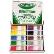 Crayola® Markers Classpack, Fine Line, 10 Assorted Colors, 200/Box