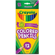 Crayola® Colored Pencils, Sharpened, Assorted, 12/Set
