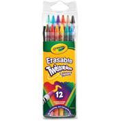 Crayola® Erasable Twistable Color Pencils, Nontoxic, Assorted, 12/Pack
