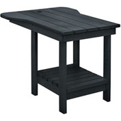 "Generations Tete A Tete Table, Black, 18""L x 14""W x 21""H"