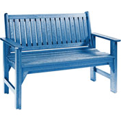 "Generations Garden Bench, Blue, 46""L x 20-1/2""W x 36""H"